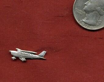 AIRPLANE Sterling Tie Tack