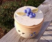 Blueberry Garlic Holder - Popourri - Candle Holder - Tealight