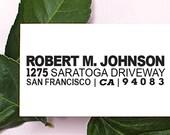 Custom Address Stamp, Return Address Stamp, Self Inking Return Address Stamp, Wedding Gift, Housewarming Gift, Gift for Men, Wood - 1050