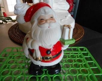 Vintage ceramic Santa Claus Christmas Bank