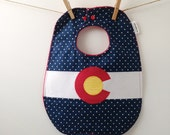Colorado Baby Gift - Baby Bib with Snaps
