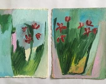 Crabapple Blossom, original oil paintings on paper