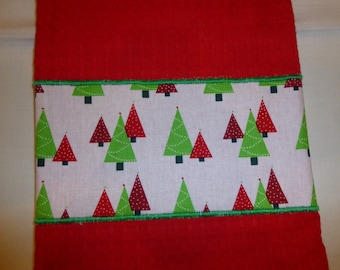 Tea Towel Appliqued with a Christmas Theme (598)