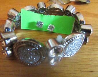sparkly bracelet earrings