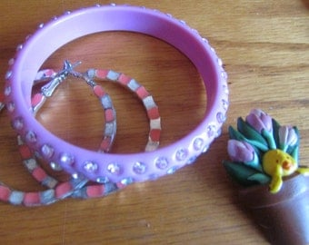 Pink spring jewelry