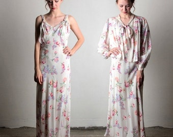 ON SALE 2 Piece Dress and Top . Maxi 2pc in Floral