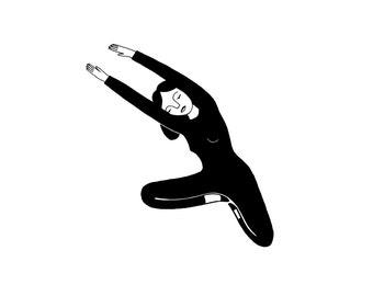 stretch / black and white print