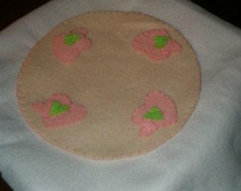 Pink Heart candle mat, ab4b, ofg team