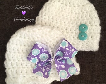 Newborn twin hats.. Boy girl twin hats.. Photography prop. Ready to ship