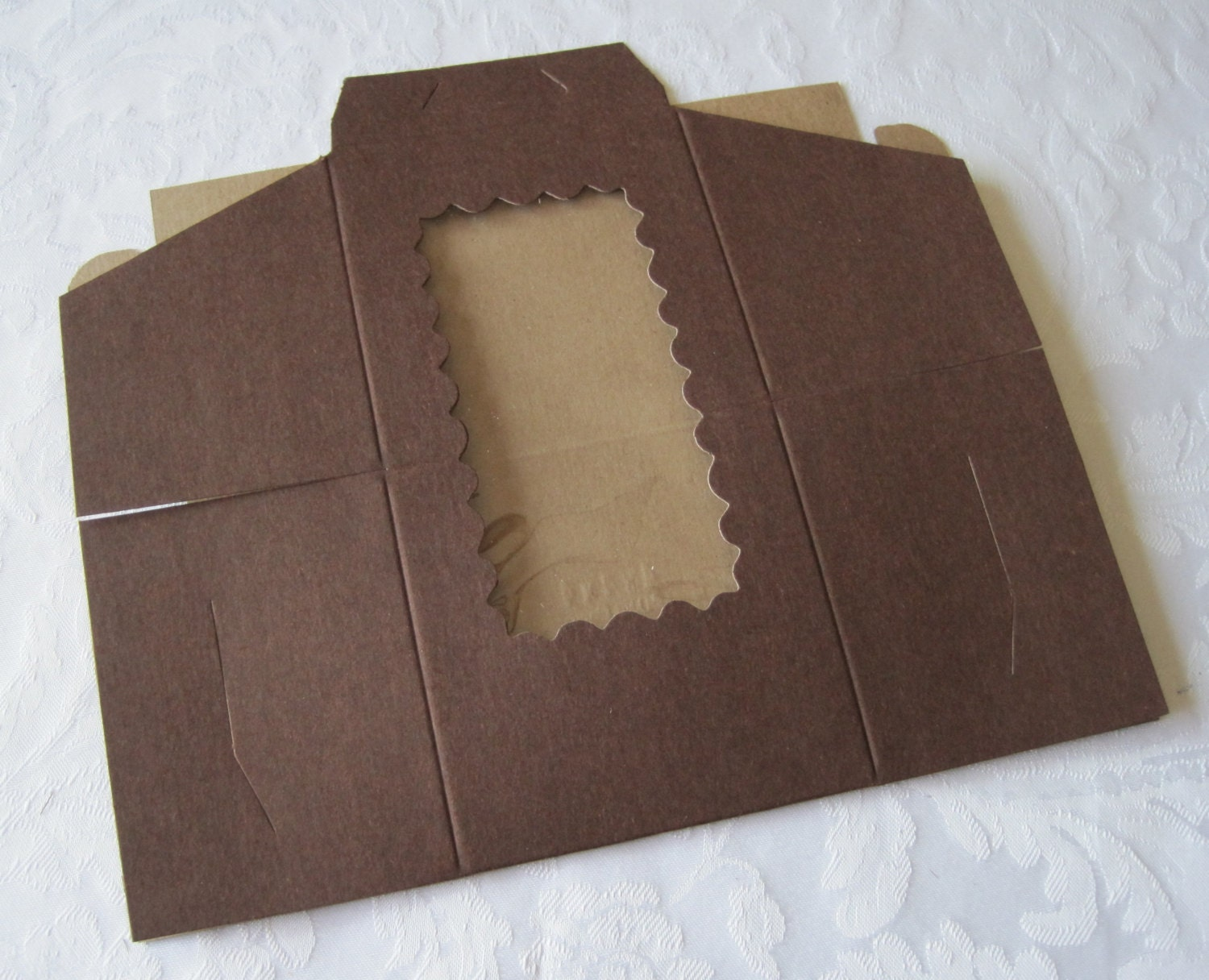 Dark Brown Cake Boxes With Window