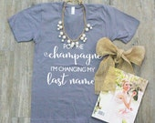 Bridal Shirt, Pop the Champagne, Bridal Gift, Gift for her, American Apparel