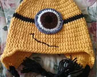 One Eyed Minion Hat (adult)