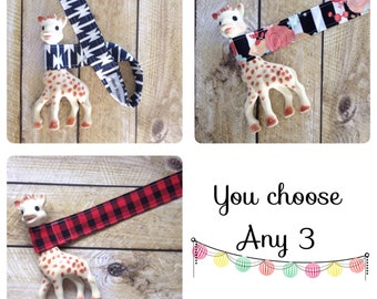Baby Gift Set - Toy Leash Bundle - You choose - Sophie Leash - Toy Strap