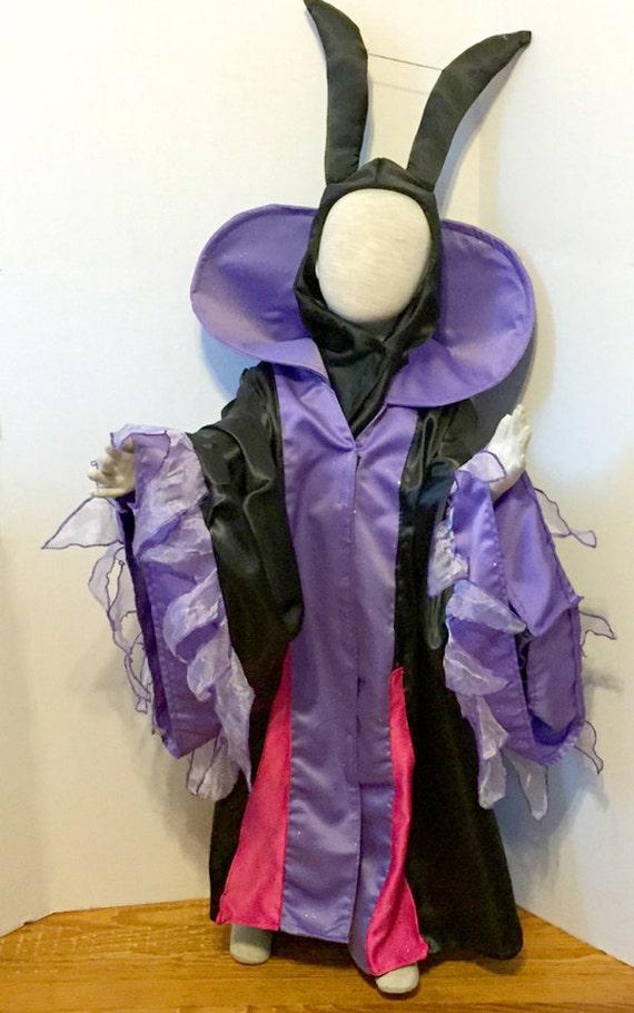 Maleficent  Sleeping Beauty Evil Queen robe for children