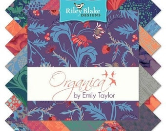 SALE Organica 5 Inch Stacker Charm Bundle(42) DOUBLE COMPLETE - Emily Taylor - Riley Blake Fabrics