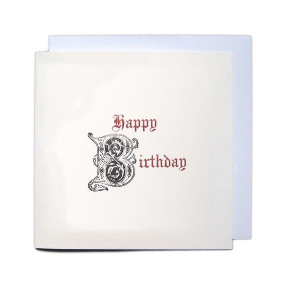 Letterpress Typeset Greetings Card - Happy Birthday