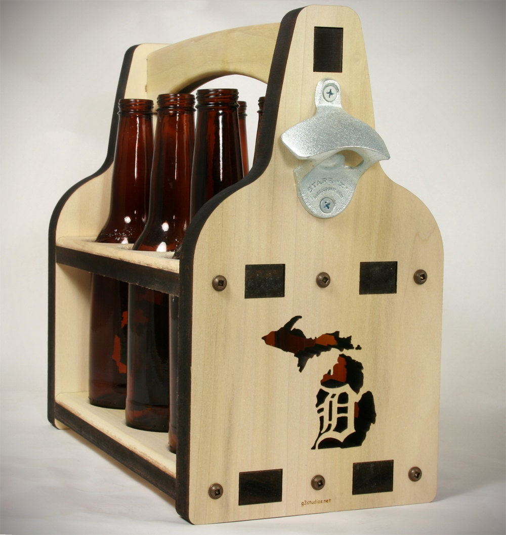 Beer holder beer caddy six pack beer wooden beer tote for 6 pack beer carrier template