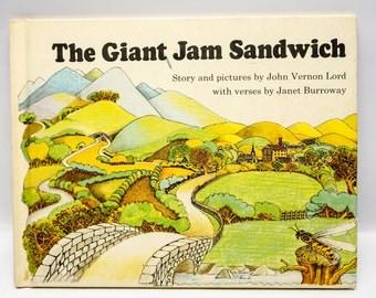 The Giant Jam Sandwich - children's book - 1972