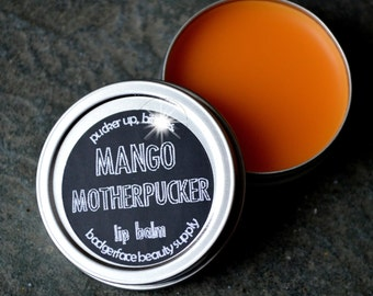 LIP BALM Tin. Mango Lip Balm. Lip Balm. Fruity Lip Balm. Funny Lip Balm. Natural Lip Balm. Mango Lip Gloss. Mango Butter. Beeswax Lip Balm.