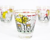 vintage Libbey barware . the Lion Tamer . early 1950s