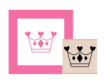 Princess Crown Rubber Stamp