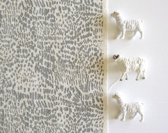 Scratch - screen printed fabric - chalky colours