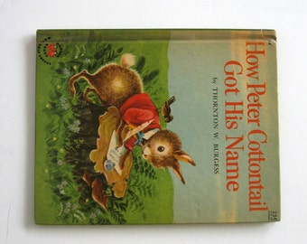 Wonder Book How Peter Cottontail Got His Name Copyright 1957