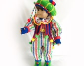 Doll Costume for American Girl Doll Mardi Gras Doll Costume 18 Inch Doll Costume Am Girl Doll Mardi Gras Costume Fantasy Doll Clown Costume