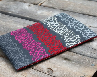 Kindle Case, Kindle Paperwhite Sleeve, Nook Samsung Sleeve, Galaxy reader case, ereader sleeves in Retro Wire