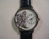 Women's Watch with Blue Salvia, Watch for Women, Pressed Flower Watch, Watches for Women, Floral Watch, Gardening Watch, Jeans Watch,Watch