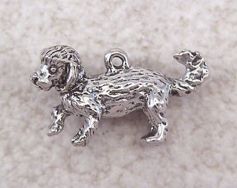 NEW Green Girl Studios Pewter Bichon Frise Dog Bead