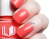 Salmon Chanted Evening - Full Sized Creme Polish - Bright Coral