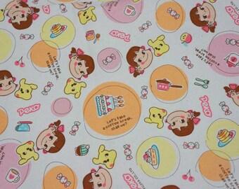 Licensed fabric by fujiya Peko Chan print Japanese Fabric Half meter ©fujiya nc52