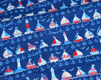 marine theme print Half meter A8