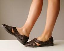 1980s Chocolate Esprit Sandals~Size 8-1/2 (8.5)