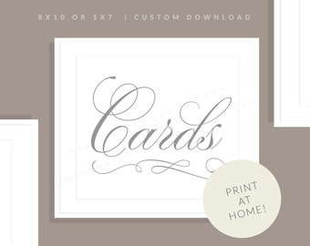 Printable Cards Sign   Printable Wedding Cards Sign   Downloadable Wedding Sign   Printable Reception Sign   Marian Collection