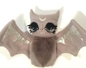 RESERVED FOR TERESA Moon Bat Faux Taxidermy