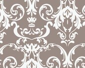 Halle Rose Gray Damask Cotton Fabric by Lila Tueller for Riley Blake 1 Yard