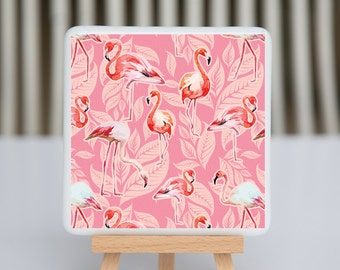 Coaster - Fused glass - Flamingo - Pink