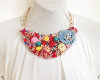 Candy Bib Necklace
