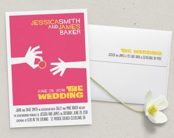 Movie Poster Wedding Invitation Suite
