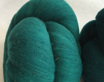 "2 Batts of ""cricket"" 100 percent Corriedale a shade of teal 3.71oz"