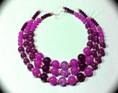 Shades of Purple Glass Beads craft Supplies  beading supplies  diy  necklace bracelet earrings boho native ethnic gypsy mod cottage chic