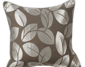 Decorative Throw Pillow Covers Couch Pillows Sofa Bed Pillow Toss Pillow 16 x 16 Grey Pillow Case Bedding Frosted Leaves