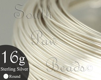 1/2 troy oz Round Sterling Silver Wire 16 gauge dead soft, approximately 4 feet