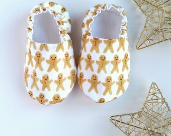 Organic Reversible Baby Shoes, Gingerbreads