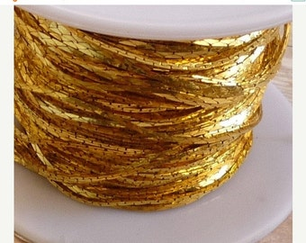 Summer Sale Chain Bulk 100 Feet FT Full Spool Cobra Serpentine Chain,  Deep Gold Plated, Nickel Free Chain, Lead Free Chain