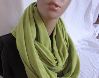 SALE - Lime Green Plush Shrug/ Cowl/Circle Scarf/Infinity Scarf (5125)