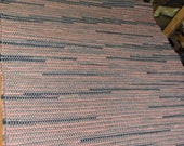 Reserved forAnnette, Hand woven rag rug, (24x40,36x68) C-13