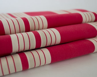 French antique red ticking